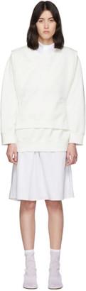 MM6 MAISON MARGIELA Off-White V-Bib Sweatshirt