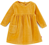 Zutano Caramel Velour Pocket A-Line Dress - Infant
