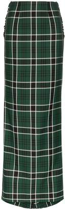 Rosie Assoulin bow-embellished checked maxi skirt