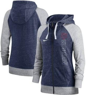 Nike Women's Navy Minnesota Twins In Pocket Gym Vintage Full-Zip Hoodie