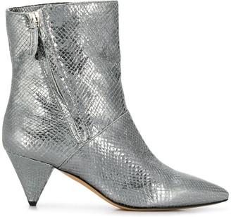 The Seller Pointed Metallic Sheen Boots