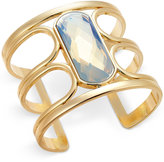 INC International Concepts Gold-Tone White Stone Open Cuff Bracelet, Only at Macy's