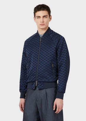 Emporio Armani Bomber Jacket With Jacquard Lettering