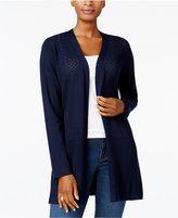 Karen Scott Pointelle Duster Cardigan, Created for Macy's