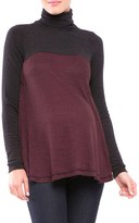 Olian Women's Paola Colorblock Turtleneck Maternity Top