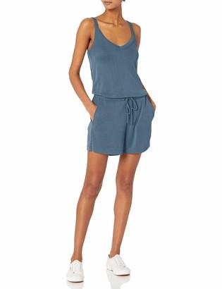 Daily Ritual Amazon Brand Women's Sandwashed Modal Blend V-Neck Sleeveless Romper