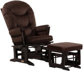 Dutailier Modern Glider and Ottoman Set in Espresso and Chocolate