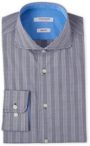 Isaac Mizrahi Slim Fit Navy Glen Plaid Dress Shirt