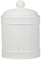 Home Essentials and Beyond Round Basketweave Canister