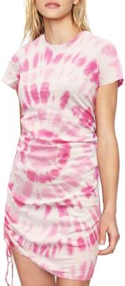 Pam & Gela Tie Dye Side Ruched T-Shirt Dress