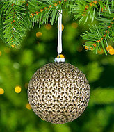Southern Living Homestead Holidays Collection Medallion-Embossed Ball Ornament