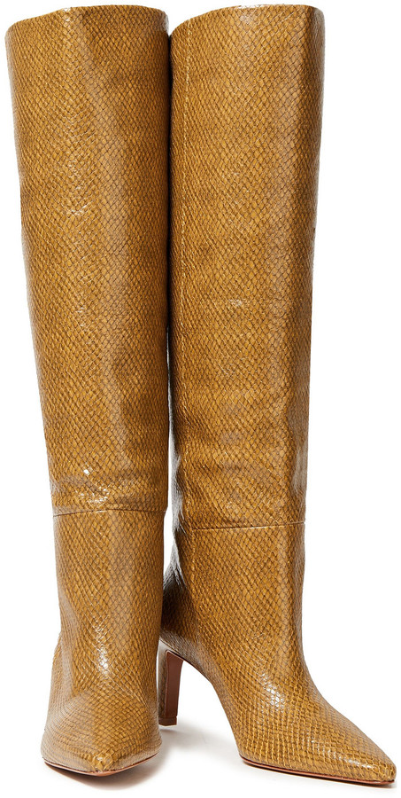 Thumbnail for your product : Zimmermann Leather Knee Boots