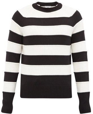 Ami Striped Cotton-blend Sweater - Black Multi