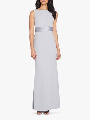 Adrianna Papell Knit Crepe Dress, Bridal Silver