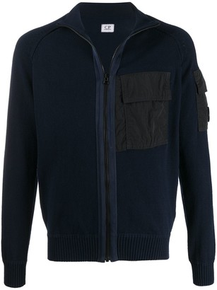 C.P. Company Patch-Pocket Zip-Through Sweater