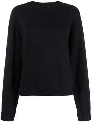 Helmut Lang Buckle Sleeve Sweatshirt