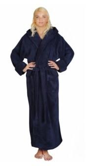 Arus Women's Ankle Length Hooded, Low Twist, Soft Turkish Cotton Bathrobe Bedding