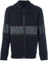 Lanvin mixed material hoodie - men - Cotton/Polyamide/Virgin Wool - S