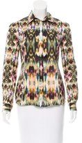 ICB Silk Abstract Print Top w/ Tags