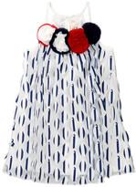 Baby Sara A-Line 3D Petal Striped Dress (Baby & Toddler Girls)