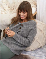 aerie Oversized Lace-Up Sweater