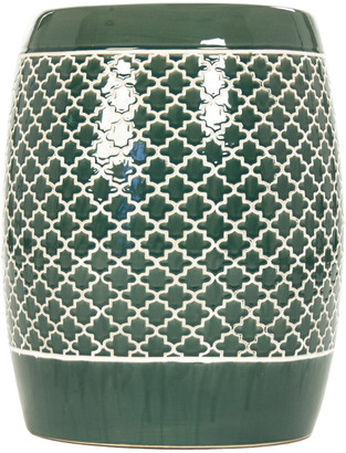 Zentique Gable Garden Stool Teal