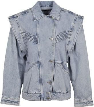 Isabel Marant Denim Oversized Buttoned Jacket
