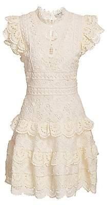 Sea Women's Laurel Lace Tiered Mini Dress - Size 0