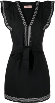 Twin-Set Rhinestone-Embellished Mini Dress