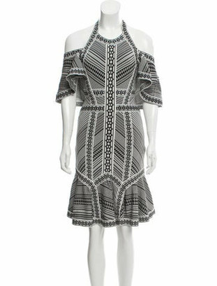Herve Leger 2018 Patterned Dress w/ Tags Black
