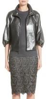 St. John Women's Pearlized Nappa Leather Jacket
