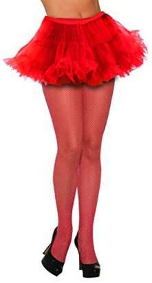 Forum Novelties Women's Fishnet Stockings Glitter Red Tights, One Size