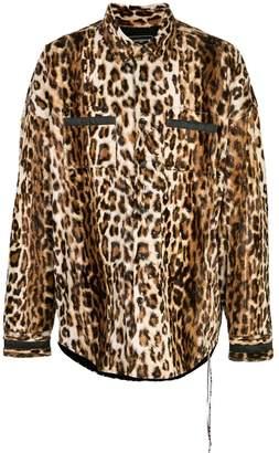Buttoned Down Mastermind World MASTERMIND WORLD leopard print overshirt
