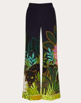 Valentino Printed Crepe De Chine Pajama Pants Women Multicolored Silk 100% 46