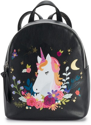 T-Shirt & Jeans Floral Moon Unicorn Backpack
