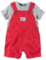 Carter's 2-Piece Tee and Printed Shortall Set in Red Anchors