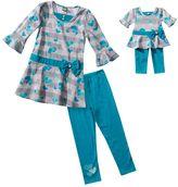Dollie & Me heart dress & leggings set - girls 7-16
