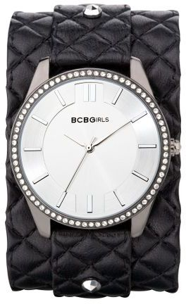 "BCBGirls cool contrast"" biker-cuff watch"