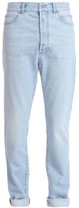 Balmain High-Waist Stonewash Jeans