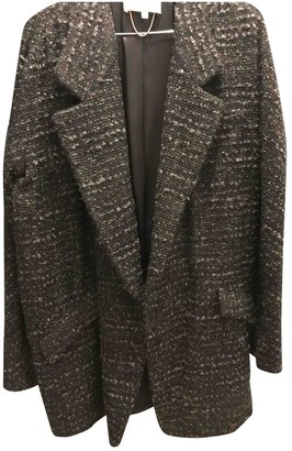 Vanessa Bruno Grey Wool Coat for Women