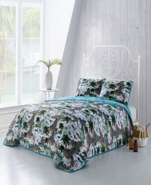 Geneva Home Fashion Havana 3-Pc. Queen Tropical Reversible Quilt Set
