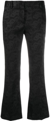 Alberto Biani Floral-Embroidered Flared Trousers