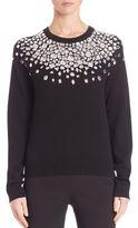 Michael Kors Embellished Crewneck Sweater