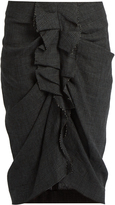 Etoile Isabel Marant Jorga Prince of Wales-checked linen skirt