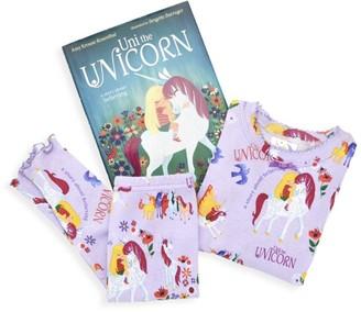 Books To Bed Little Girl's Uni the Unicorn Three-Piece Pajama & Book Set