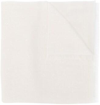 Brunello Cucinelli Frayed-Hem Oversized Scarf