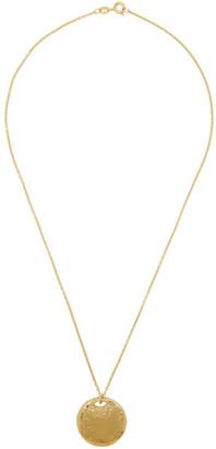 Dear Letterman Gold Helm Pendant Necklace