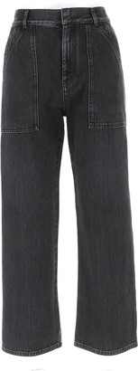 Christian Dior Patch Pockets Washed Jeans