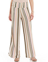 Coco + Jaimeson Vertical-Striped Smocked-Waist Palazzo Pants