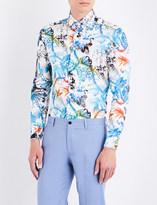 Etro Mercrio botanical-print tailored-fit cotton shirt